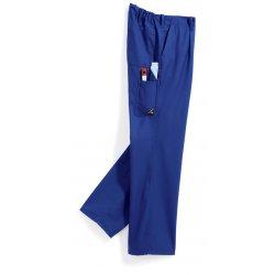Pantalon de travail bleu roi 60% coton élastiqué dos-BP-