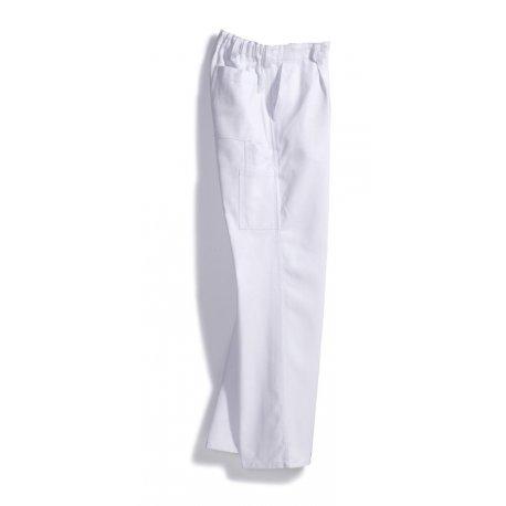 Pantalon de travail blanc 100% coton-BP-