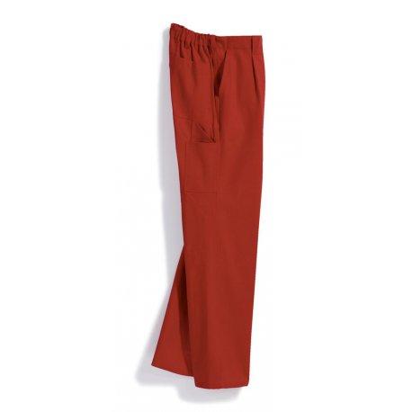 Pantalon de travail rouge 100% coton-BP-