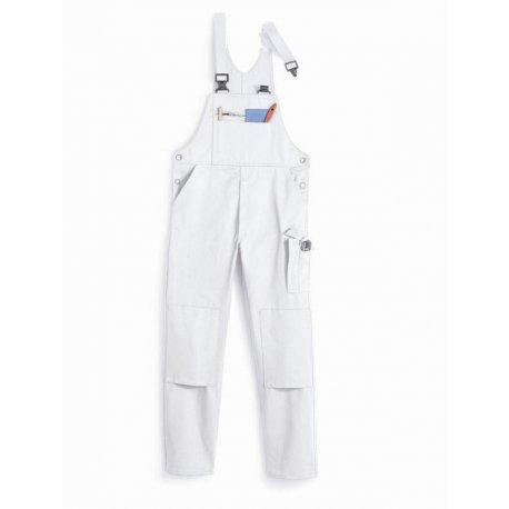 Salopette de travail blanc 100% coton lavage 60°-BP-