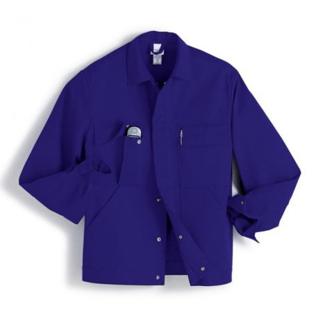 Veste de travail Bleu Roi 100% coton avec poches-BP-