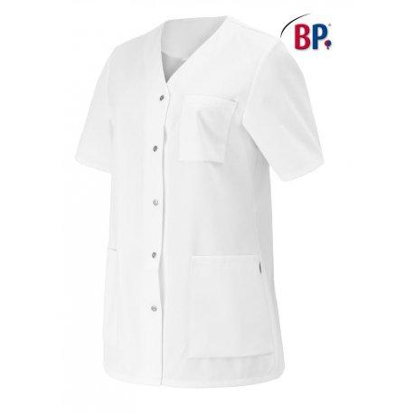 Tunique médicale blanche fermeture par pressions-BP-