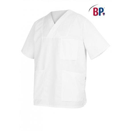Tunique médicale blanche unisex à enfiler-BP-