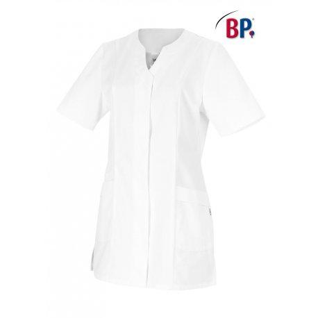 Tunique médicale blanche coupe ajusté polycoton -BP-