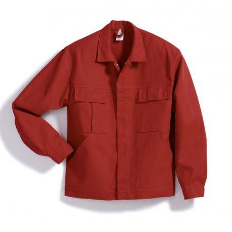 Veste de travail rouge 100% coton avec poches-BP-