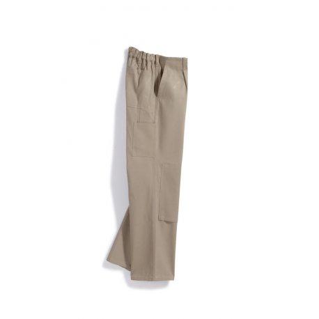 Pantalon de travail beige avec poches 100% coton-BP-