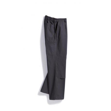 Pantalon de travail gris avec poches 100% coton-BP-