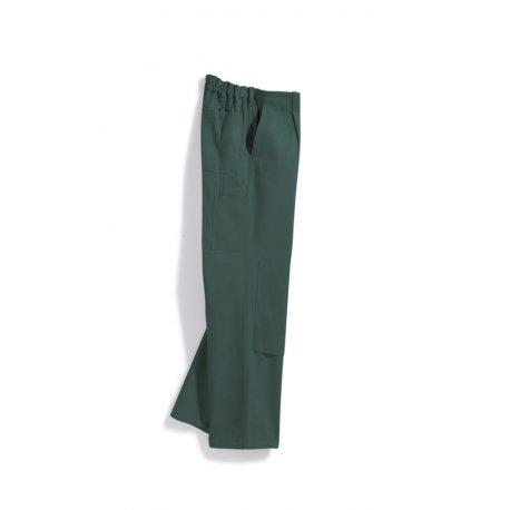 Pantalon de travail vert avec poches 100% coton-BP-