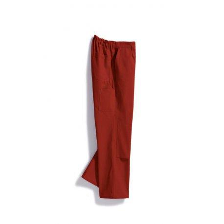 Pantalon de travail rouge avec poches 100% coton-BP-