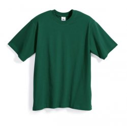 T-shirt 100% coton vert moyen