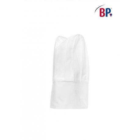 Toque Grand Chef blanche 100% coton -BP-