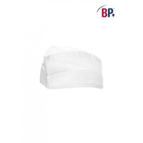 Calot de cuisine blanc polycoton réglable -BP-