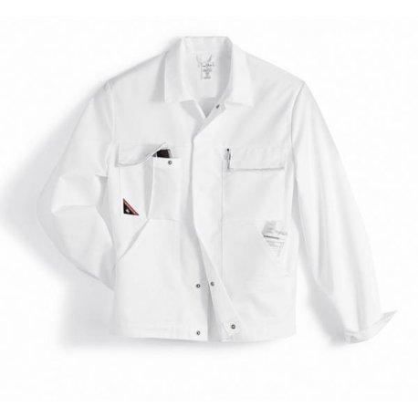 Veste de travail blanc polycoton légère-BP-