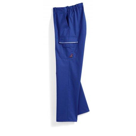 Pantalon de travail bleu roi polycoton poches côtés-BP-