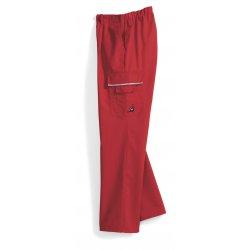 Pantalon de travail rouge polycoton avec poches côtés-BP-