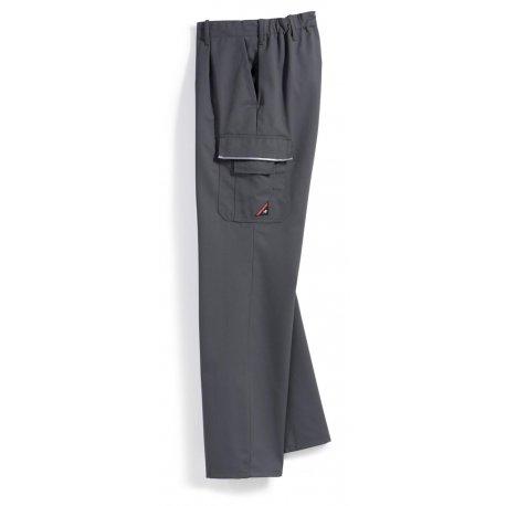 Pantalon de travail gris polycoton poches côtés-BP-