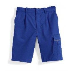 Short de travail bleu roi polycoton avec poches-BP-