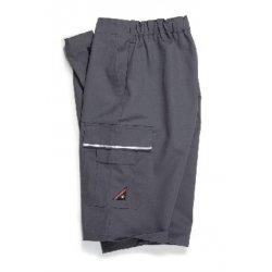 Short de travail gris polycoton avec poches-BP-