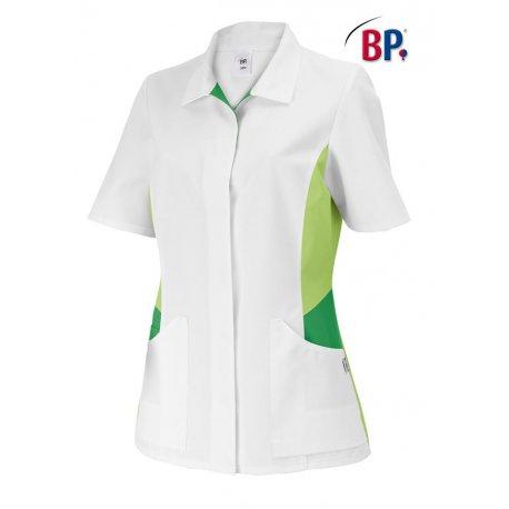 Tunique médicale femme coupe ajusté vert et blanc-BP-
