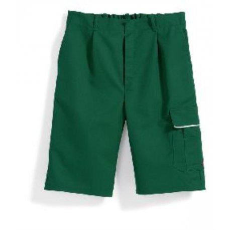 Short de travail vert polycoton avec poches-BP-