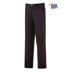 Pantalon de cuisine noir polycoton coupe jean