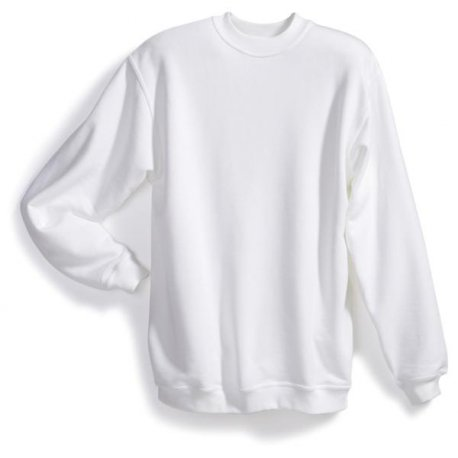 Sweat-shirt 55% coton 45% polyester blanc BP