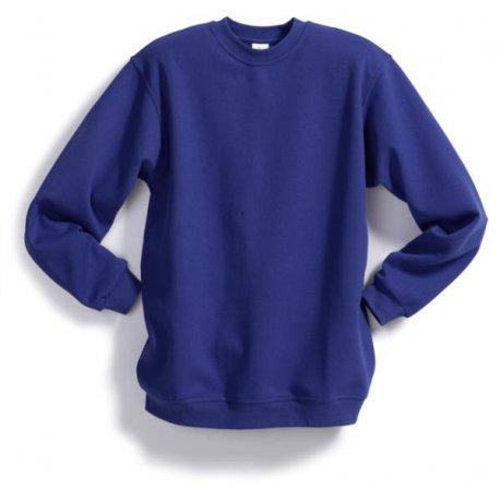 Sweat-shirt 55% coton 45% polyester bleu foncé BP