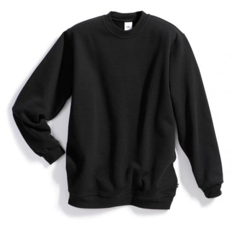 Sweat-shirt 55% coton 45% polyester noir BP
