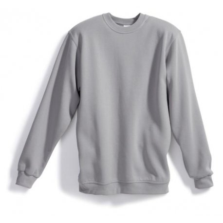 Sweat-shirt 55% coton 45% polyester gris clair BP