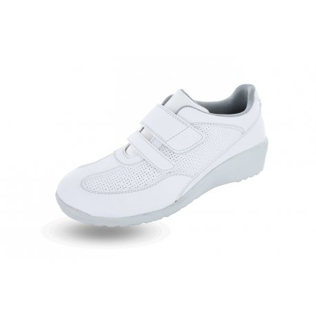 Chaussure Médicale Roma blanche microfibre-NORDWAYS-