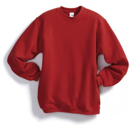Sweat-shirt 55% coton 45% polyester rouge BP