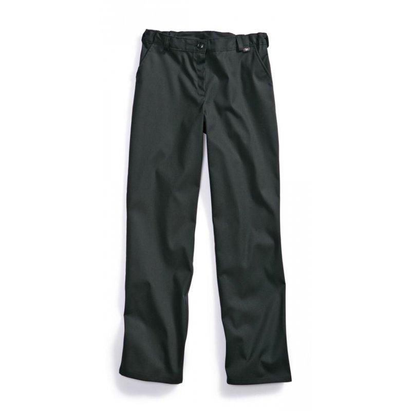Pantalon de cuisine femme for Pantalon cuisine noir