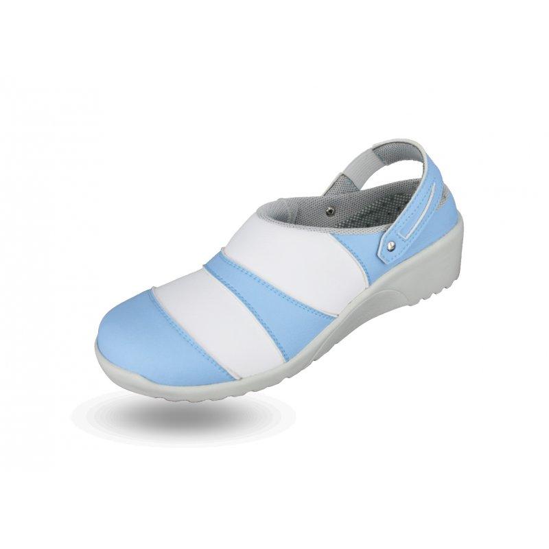 Sabot Médical Modèle ADELE en Blanc et Bleu