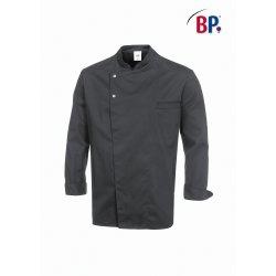 Veste de cuisine boutons pression 49% polyester 49% coton 2% élastoléfine gris BP