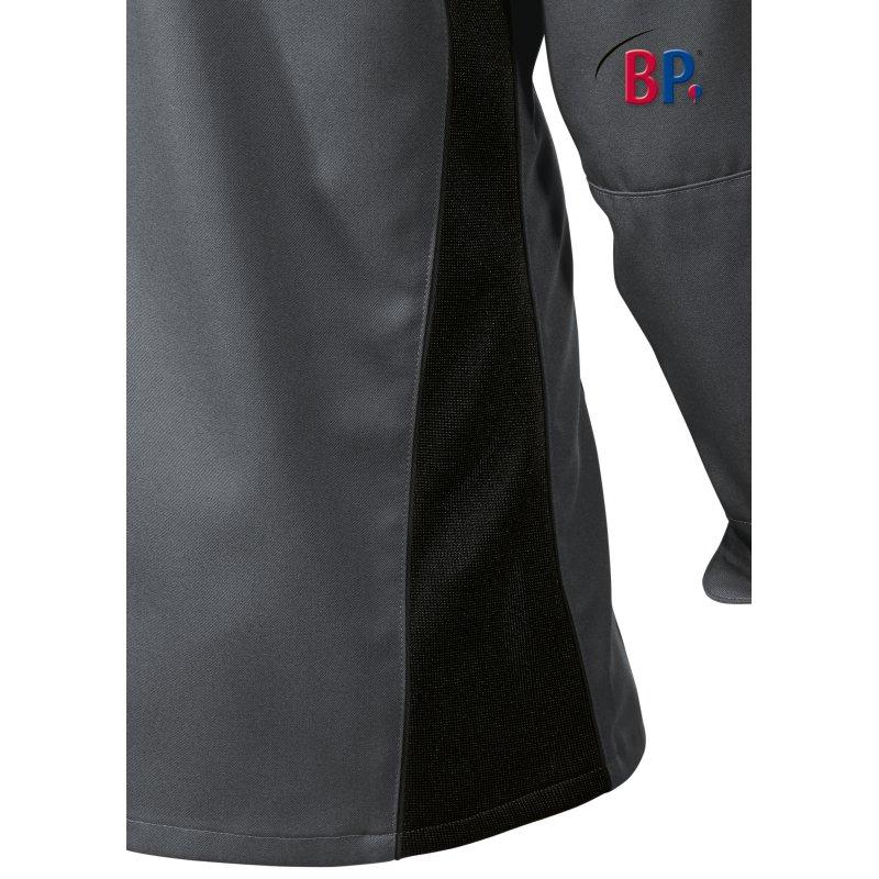 veste de cuisine manches longues grise empi cement extensible. Black Bedroom Furniture Sets. Home Design Ideas
