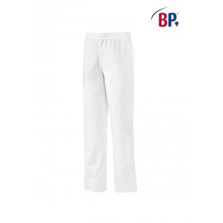 Pantalon de cuisine blanc taille élastiqué 100% coton