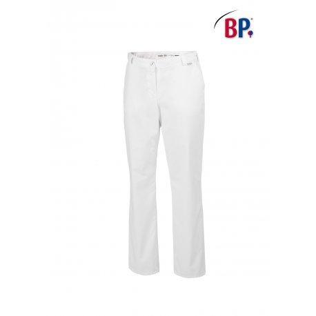 Pantalon de cuisine femme blanc coupe jean -BP-