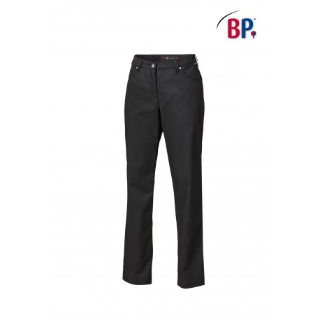 Pantalon de service femme noir strech -BP-