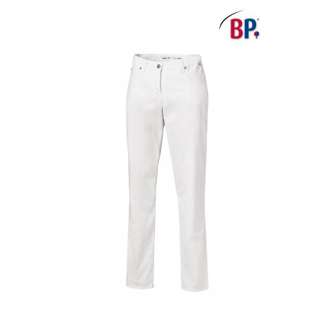 Pantalon de service femme blanc strech-BP-
