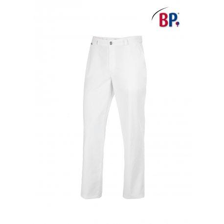 Pantalon de service unisexe blanc passant ceinture-BP-