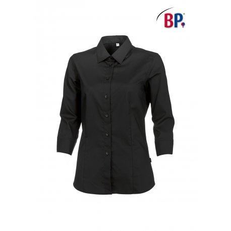 Chemisier noir Femme Manche 3/4 pour le service-BP-