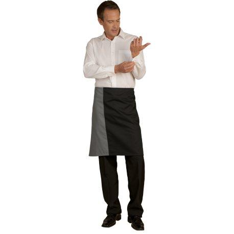 Tablier de Serveur noir et gris 65 cm polycoton -TALBOT-