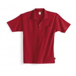 Polo 100% coton rouge