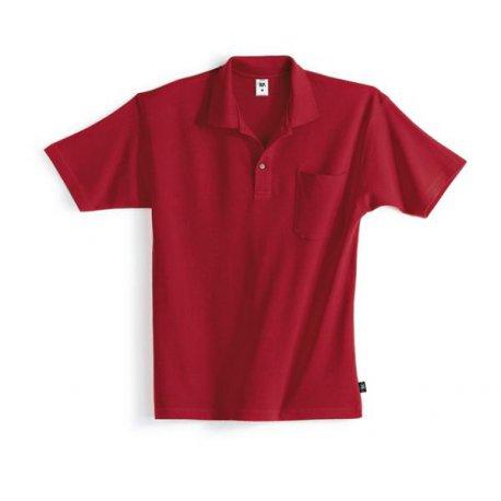 Polo 100% coton rouge-BP-