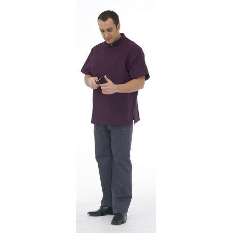 Veste de Cuisinier Homme avec poche noir
