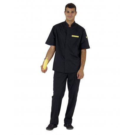 Veste de Cuisine noire pour Homme en petite et grande taille