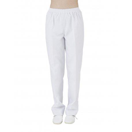Pantalon médical blanc taille élastiqué-REMI-