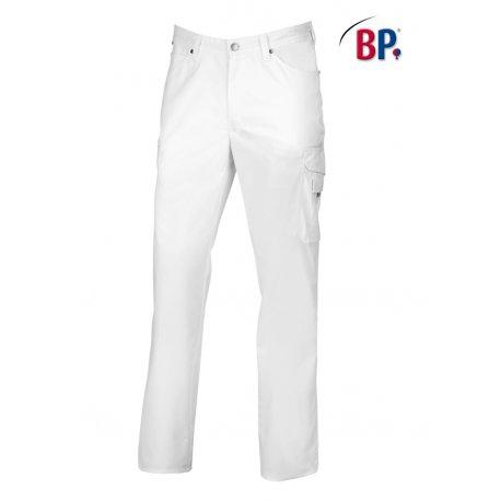 Pantalon blanc médical homme jean confortable-BP-