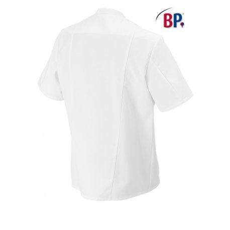 blouse médicale blanche unisex polycoton col Mao-BP-