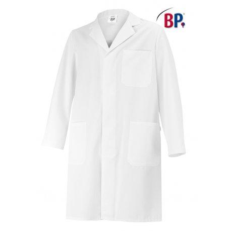 Blouse de laboratoire longue manches longues 100% coton blanc unisexe BP